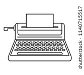 small typewriter icon. outline... | Shutterstock .eps vector #1140715517