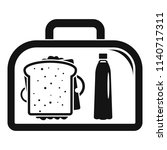 lunch sandwich box icon. simple ... | Shutterstock .eps vector #1140717311