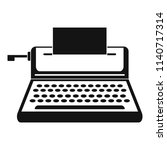 small typewriter icon. simple... | Shutterstock .eps vector #1140717314