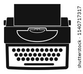 new typewriter icon. simple... | Shutterstock .eps vector #1140717317