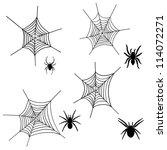 Set Of Halloween Black Spider...