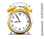 realistic shiny gold alarm... | Shutterstock .eps vector #1140723437