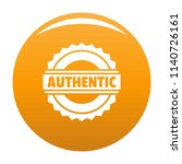 authentic logo. simple... | Shutterstock .eps vector #1140726161