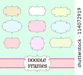 doodle frame labels | Shutterstock .eps vector #114072919