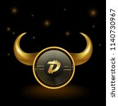 digibyte cryptocurrency coin... | Shutterstock .eps vector #1140730967