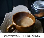 fresh tasty espresso cup of hot ... | Shutterstock . vector #1140758687