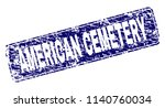 american cemetery stamp seal... | Shutterstock .eps vector #1140760034
