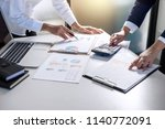 partner meeting of business... | Shutterstock . vector #1140772091
