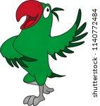 cartoon of a parakeet is... | Shutterstock .eps vector #1140772484