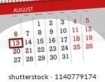 calendar planner for the month  ... | Shutterstock . vector #1140779174