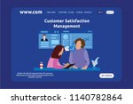 landing page design customer... | Shutterstock .eps vector #1140782864