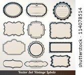 vector frame labels set... | Shutterstock .eps vector #114078514