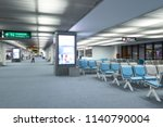 blur background of seats row at ... | Shutterstock . vector #1140790004