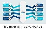 vector infographic template... | Shutterstock .eps vector #1140792431