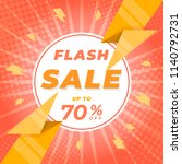 flash sale banner template... | Shutterstock .eps vector #1140792731