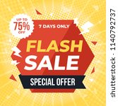 flash sale banner template... | Shutterstock .eps vector #1140792737