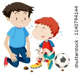 Young Man Helps Hurt Soccer...