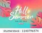 summer sale background layout... | Shutterstock .eps vector #1140796574