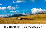 traditional kazakh yurt in the... | Shutterstock . vector #1140802127