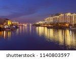 wuxi  china  urban buildings... | Shutterstock . vector #1140803597