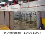 barn wash bay for livestock | Shutterstock . vector #1140811934