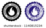 fire danger trends round stamp... | Shutterstock .eps vector #1140815234