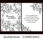 vintage delicate greeting... | Shutterstock .eps vector #1140815651