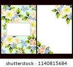 vintage delicate greeting... | Shutterstock .eps vector #1140815684