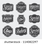 calligraphic vector sign and... | Shutterstock .eps vector #114082297