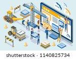 web development people set... | Shutterstock .eps vector #1140825734