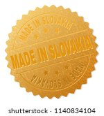 made in slovakia gold stamp...   Shutterstock .eps vector #1140834104