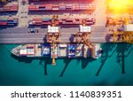 logistics and transportation of ... | Shutterstock . vector #1140839351