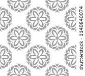 light gray floral ornament on... | Shutterstock .eps vector #1140840074