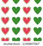 watermelon seamless pattern.... | Shutterstock .eps vector #1140847067