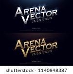 elegant silver and golden... | Shutterstock .eps vector #1140848387