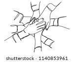 continuous line drawing of... | Shutterstock .eps vector #1140853961