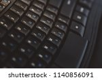 close up of black keyboard. hi... | Shutterstock . vector #1140856091