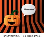 halloween pumpkins on the... | Shutterstock .eps vector #1140861911