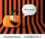 halloween pumpkins on the... | Shutterstock .eps vector #1140861917