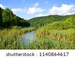 beautiful landscape in the... | Shutterstock . vector #1140864617
