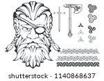 scandinavian supreme god of... | Shutterstock .eps vector #1140868637