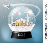 chile landmark global travel... | Shutterstock .eps vector #1140868727