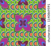 new color seamless pattern with ... | Shutterstock . vector #1140869591