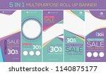 multipurpose roll up banner ... | Shutterstock .eps vector #1140875177