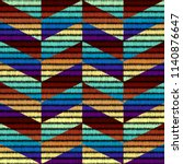 seamless geometric pattern.... | Shutterstock .eps vector #1140876647