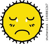disappointed shining yellow sun ...   Shutterstock .eps vector #1140881267