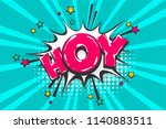 hoy hey hello greeting  wow... | Shutterstock .eps vector #1140883511