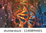dna. research molecule.... | Shutterstock . vector #1140894401