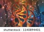 dna. research molecule.... | Shutterstock . vector #1140894401