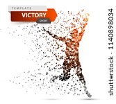 run  winner man. image... | Shutterstock .eps vector #1140898034